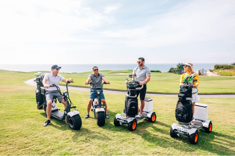 party riding GolfBoards